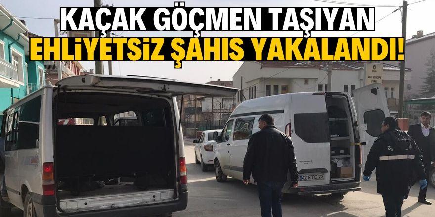 Kaçak göçmen taşıyan ehliyetsiz sürücü yakalandı!