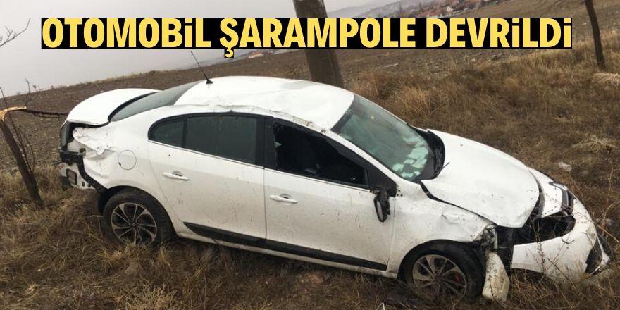 Kulu'da otomobil şarampole devrildi: 3 yaralı