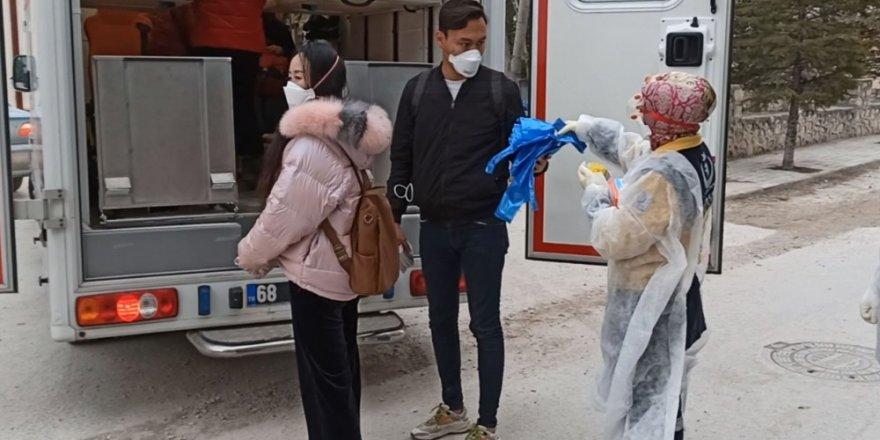 Aksaray'da 10 Çinli turist ve 2 Türk taburcu edildi