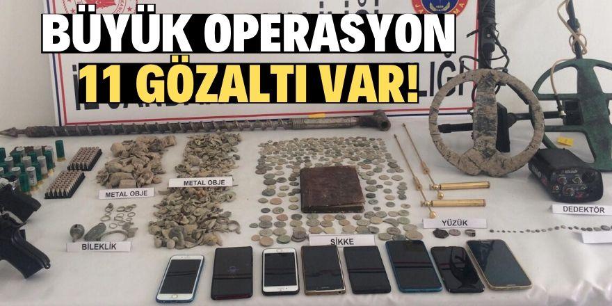 Konya merkezli tarihi eser operasyonu: 11 gözaltı