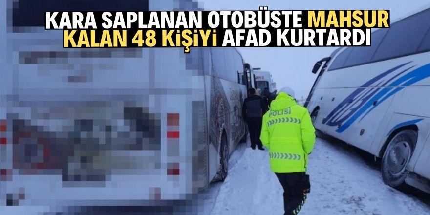 Mahsur kalan 48 kişiyi AFAD kurtardı