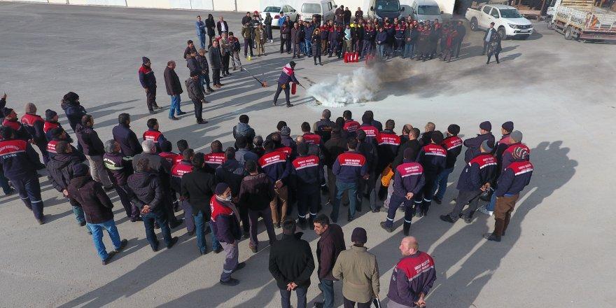 Karatay'dan personele yangın tatbikatı eğitimi