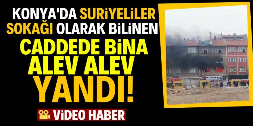 Suriyeliler sokağında yangın paniği!