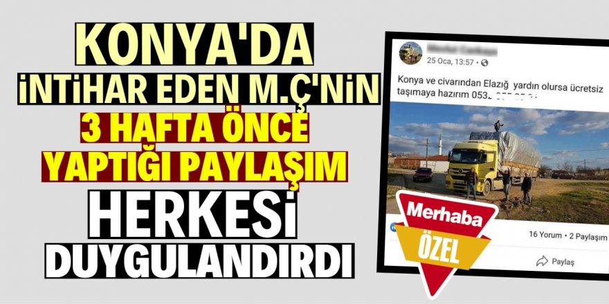 """""""Elazığ'a ücretsiz giderim"""" paylaşımı duygulandırdı"""