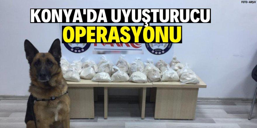 Konya'da uyuşturucu tacirlerine operasyon