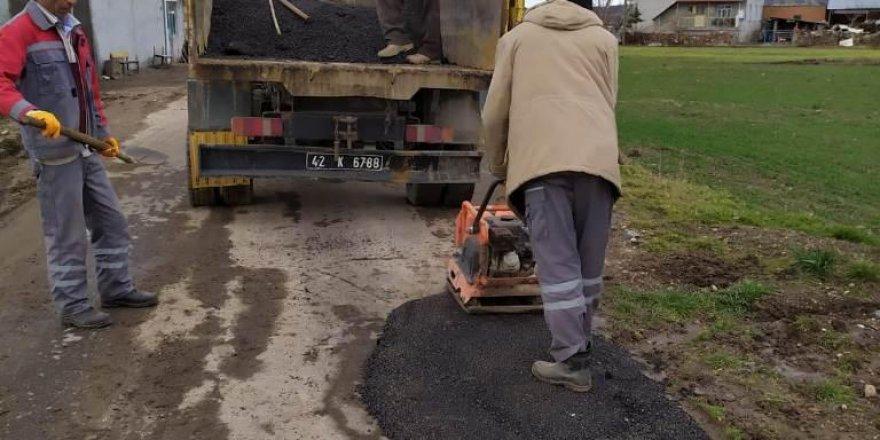Seydişehir'de yollarda bakım onarım yapılıyor