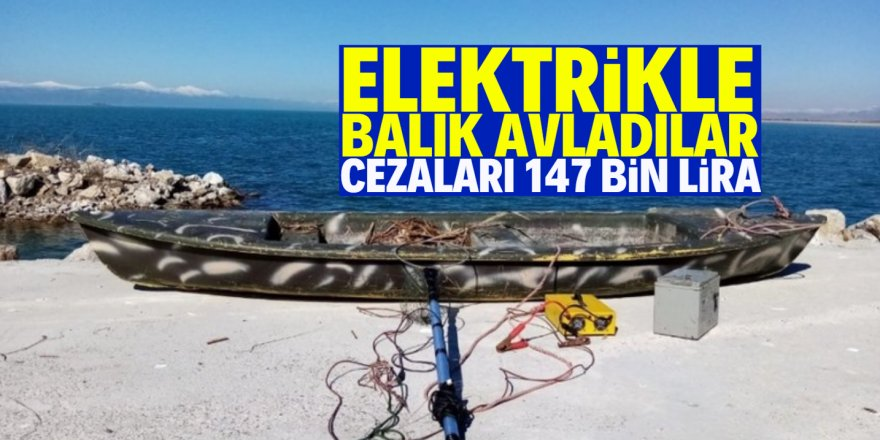 Elektrikle balık avladılar, 147 bin liralık cezaya çarptırıldılar