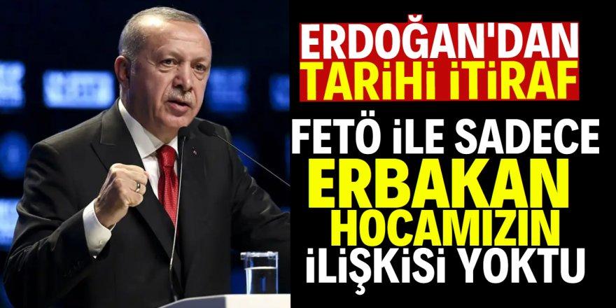 Erdoğan'dan Necmettin Erbakan itirafı