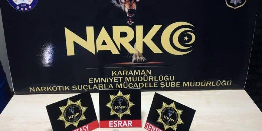 Karaman'da iki ayrı uyuşturucu operasyonunda 3 gözaltı