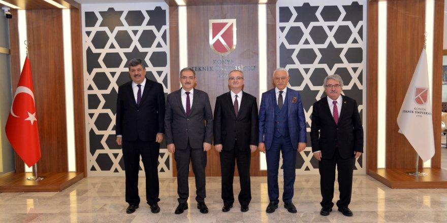 Rektörler Konya  Teknik'te buluştu