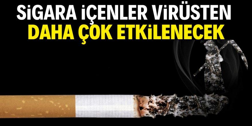 Koronavirüs sigara içenleri daha fazla etkileyecek