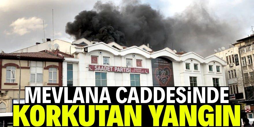 Saadet Partisi binasındaki yangın korkuttu