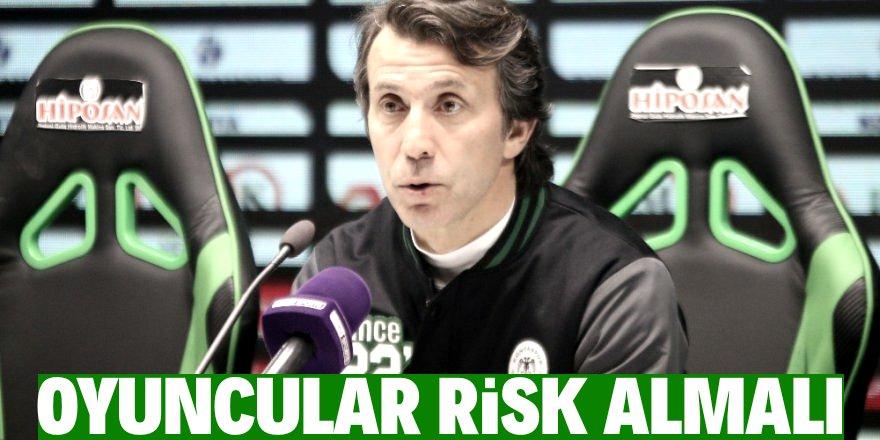 """Bülent Korkmaz: """"Yetenekli oyuncular risk alarak sonucu çıkarmalı"""""""