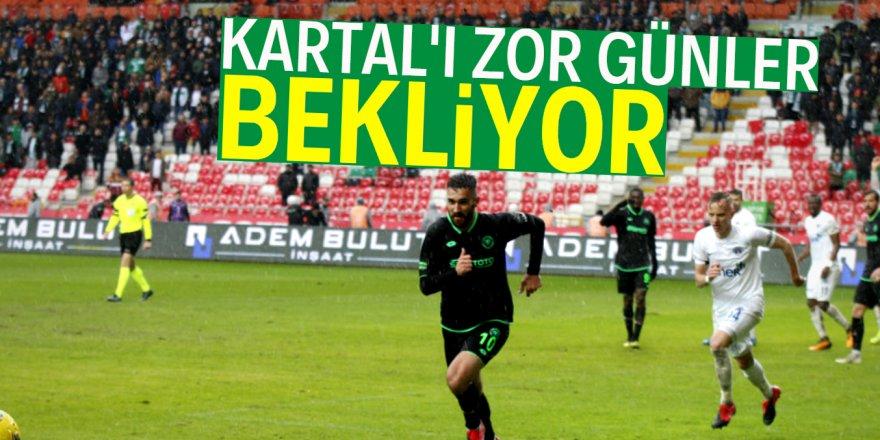 Konyaspor'u daha zor günler bekliyor