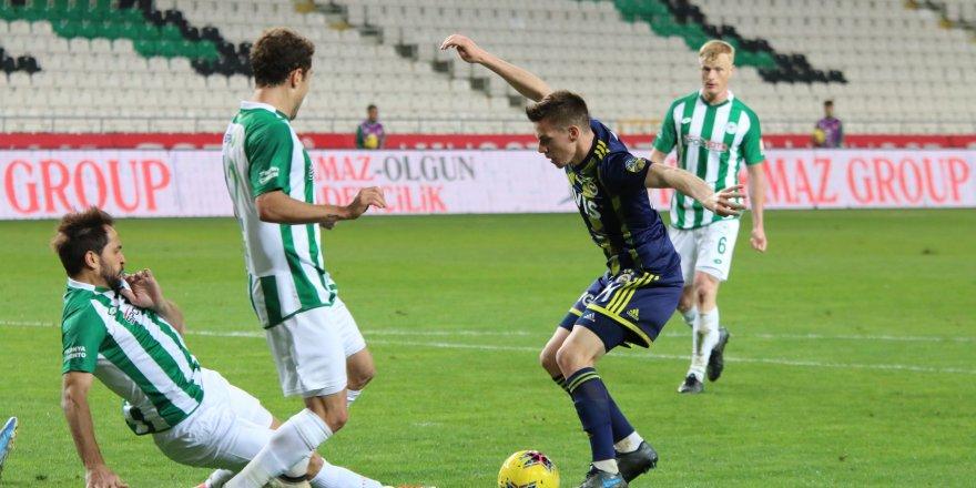 Fenerbahçe isabetli şut çekemedi