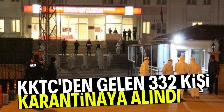 KKTC'den gelen 332 kişi daha karantinaya alındı