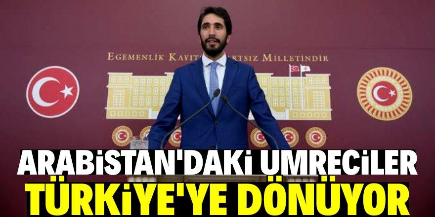 Suudi Arabistan'daki umreciler Türkiye'ye dönecek