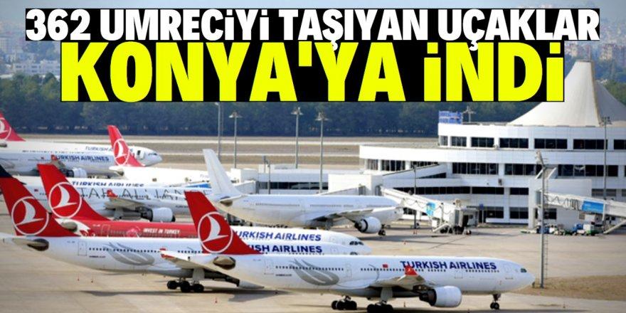 Arabistan'da mahsur kalan 362 umreci Konya'ya getirildi