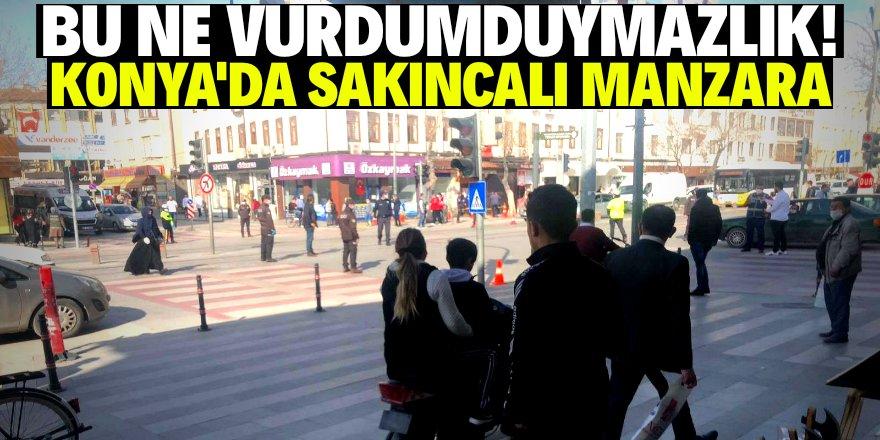Konya'da corona uyarıları dikkate alınmadı!