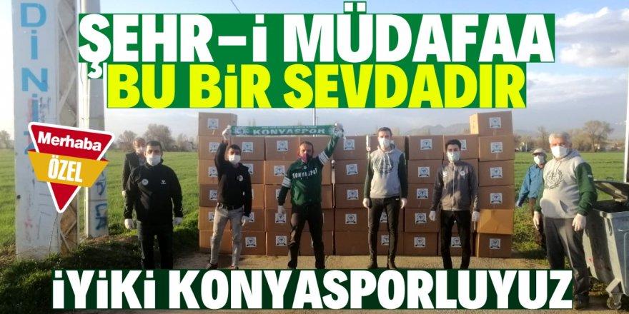 Konyaspor taraftarından anlamlı destek