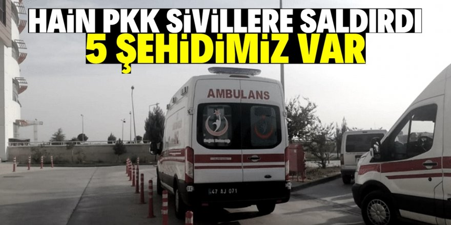 PKK köylülere saldırdı: 5 şehit