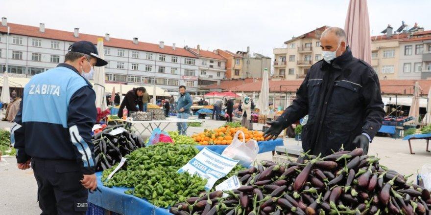 Beyşehir pazarında üst düzey önlemler alındı