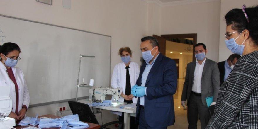 SeydişehirKOMEK'te maske üretimi başladı