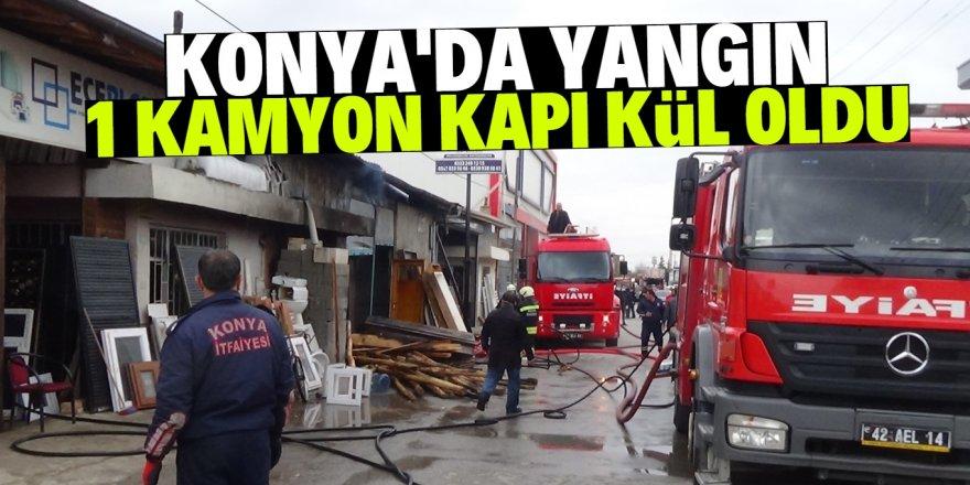 Konya'da yangın: 2 iş yeri ve 1 depo zarar gördü