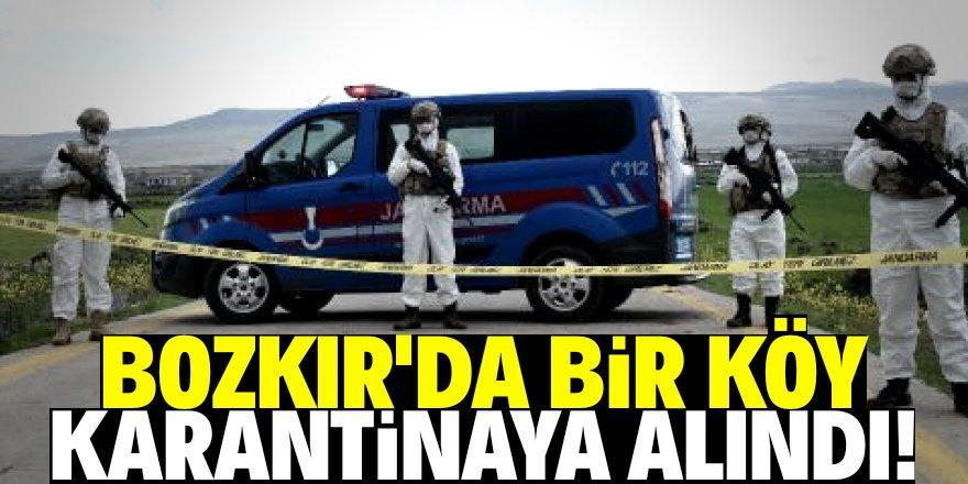 Konya'nın Bozkır ilçesinde bir köy karantinaya alındı