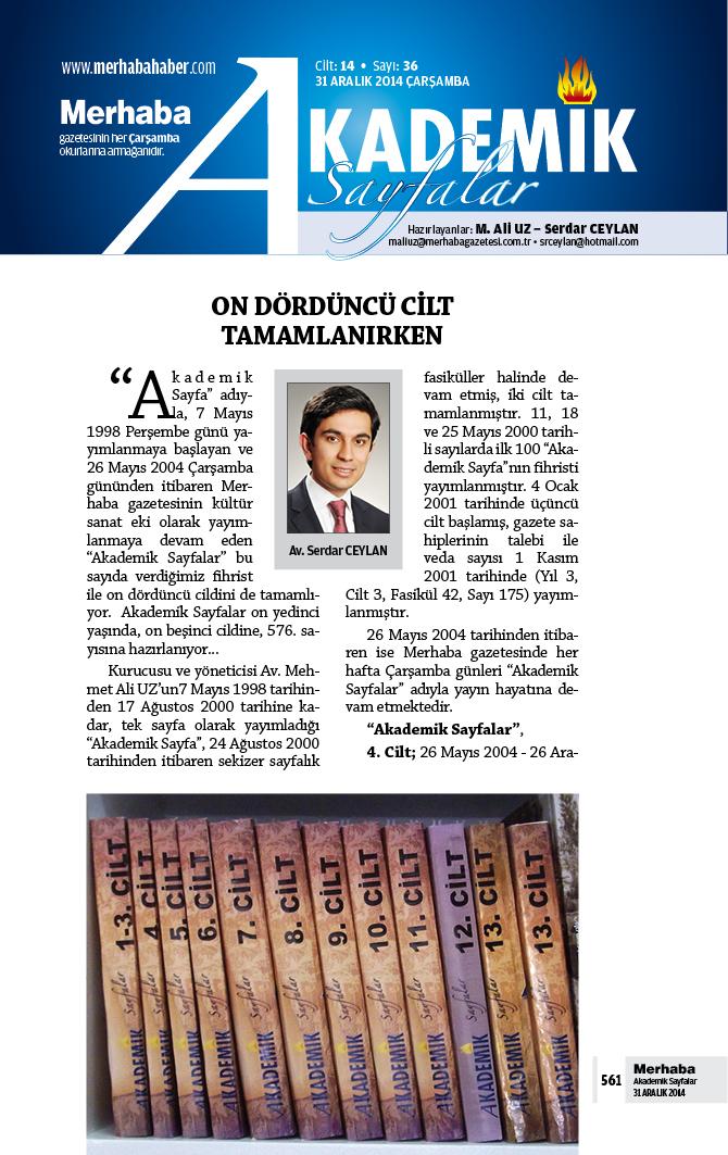 Cilt-14, Sayı-36, 31 Aralık 2014