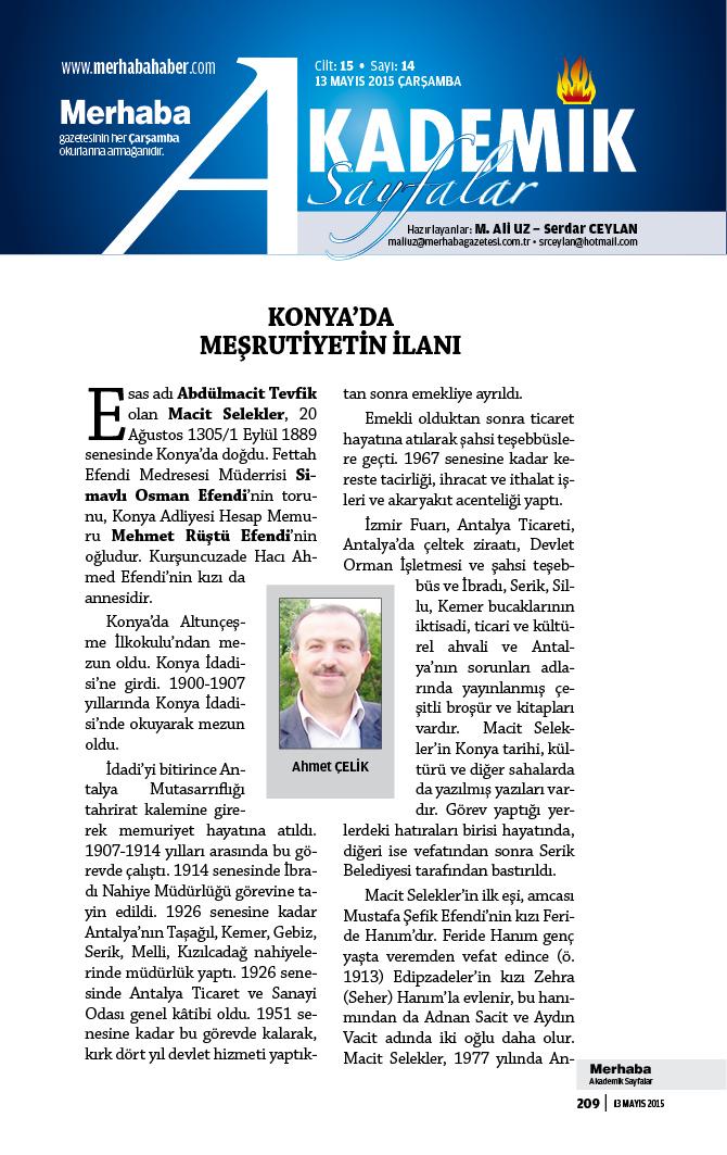 Cilt-15, Sayı-14, 13 Mayıs 2015