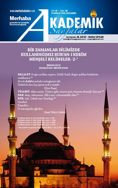Cilt-15, Sayı-38, 23 Aralık 2015