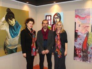 İki Alman sanatçı Konya'da sergi açtı