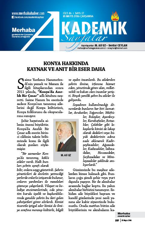 Cilt-16, Sayı-17, 18 Mayıs 2016