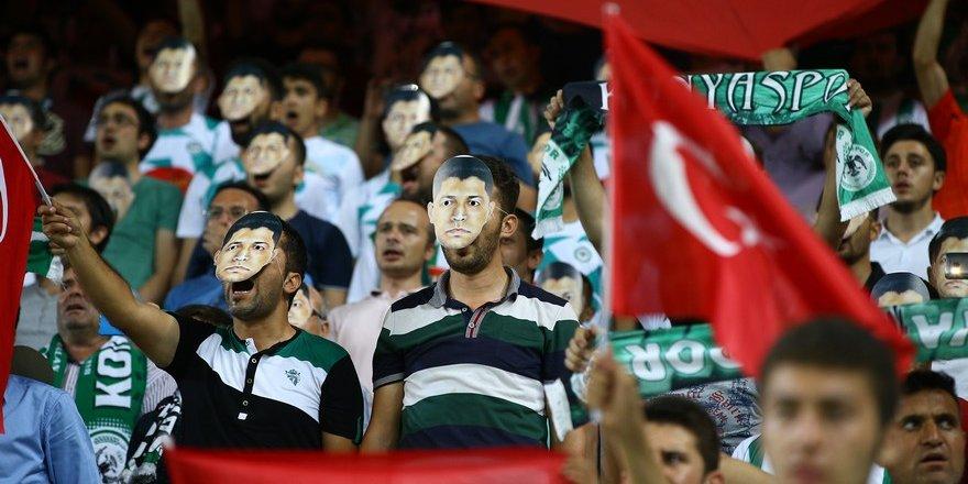 Konyaspor-Beşiktaş maçından enstantaneler