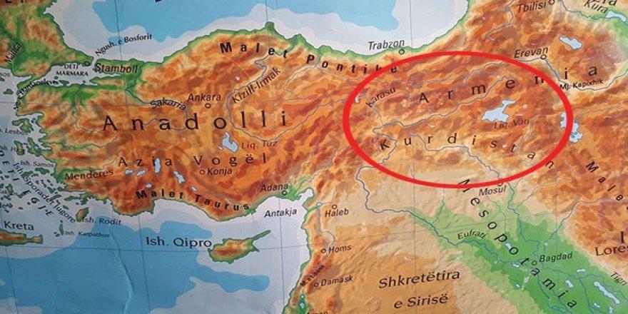 Kosova'dan skandal Türkiye haritası!