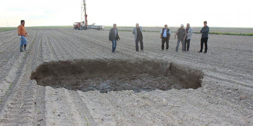 Konya'da oluşan obruklar inceleniyor