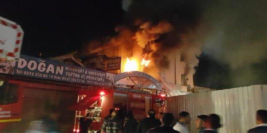 İş yerinde çıkan yangın korkuttu