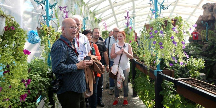 Alman gazeteciler Kelebekler Vadisi'ni ziyaret etti