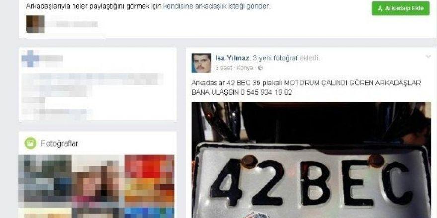 Çalınan motosikletini sosyal medya yoluyla arıyor