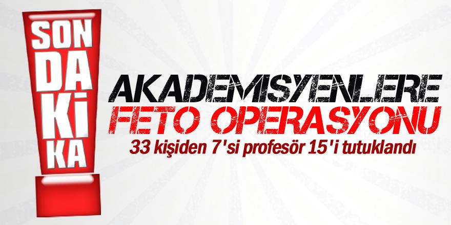 Konya'da 7'si profesör 15 kişi tutuklandı