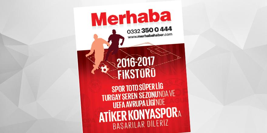Konyaspor 2016-2017 fikstürü 1. ve 2. yarı