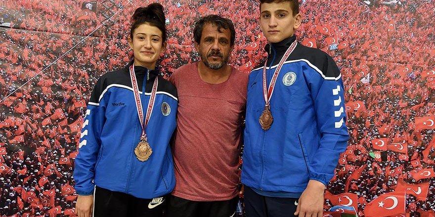 Selçuklu 2 madalya kazandı