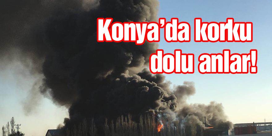 Konya'da yağ fabrikasında yangın