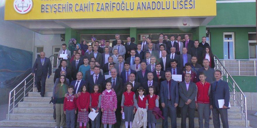 Beyşehir'de beyaz bayrak ve sertifika töreni