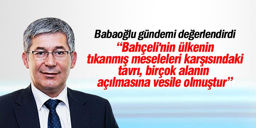 """Babaoğlu'dan Bahçeli'ye """"başkanlık"""" teşekkürü"""