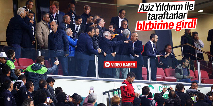 Aziz Yıldırım ile Konyaspor taraftarı arasında gerginlik