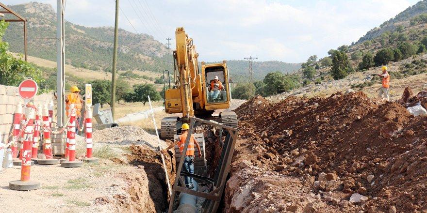 Güneysınır ve Ereğli'ye 39.5 kilometre kanalizasyon hizmeti