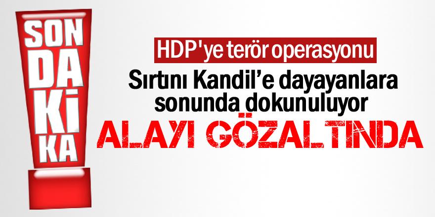 HDP'ye terör operasyonu