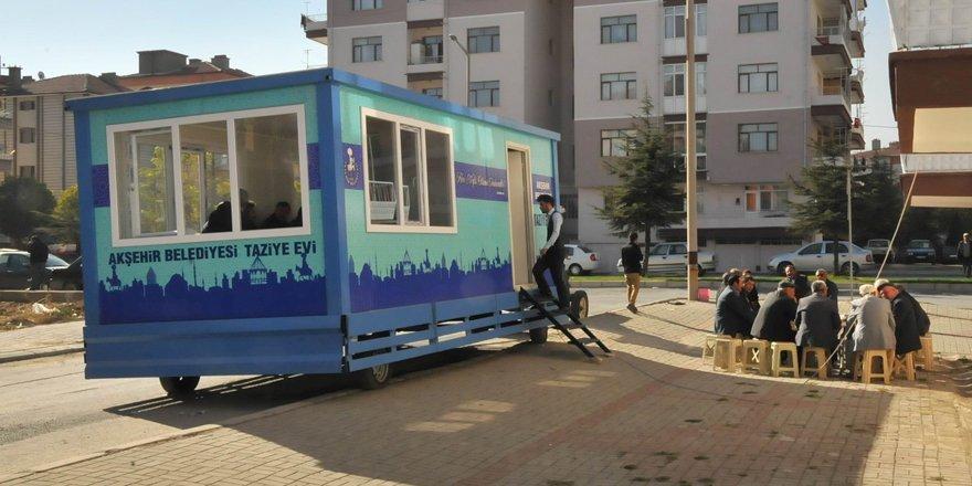 Akşehir Belediyesi'nden mobil taziye evi hizmeti
